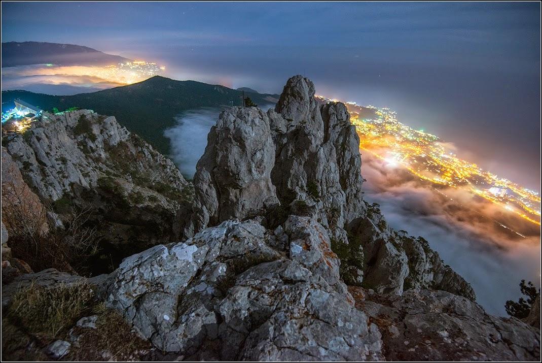 Крым зимой на горе АйПетри